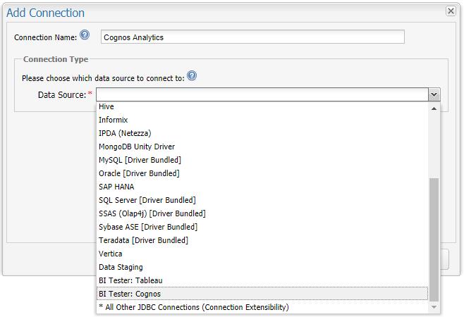 Connecting QuerySurge to IBM Cognos Analytics – Customer Support