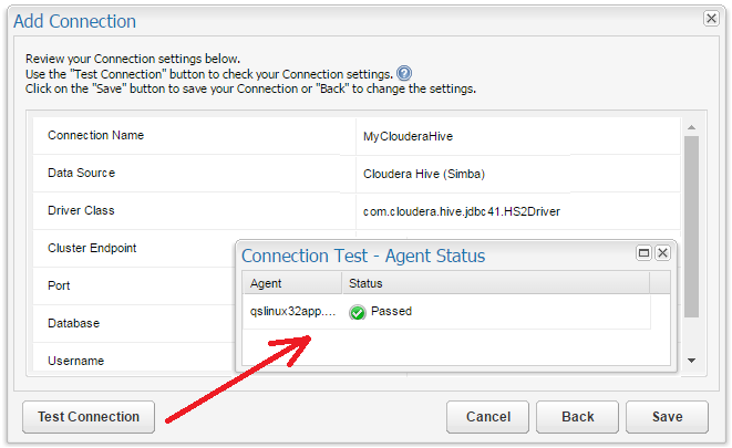 Configuring Connections: Cloudera with the Cloudera JDBC