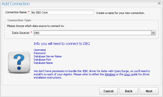 Configuring Connections: IBM DB2 – Customer Support