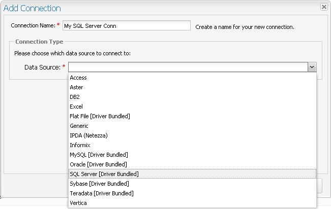 Configuring Connections: Microsoft SQL Server with Windows