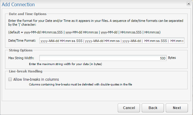 Flat Files with Custom Date/Time/Timestamp Formatted Data – Customer
