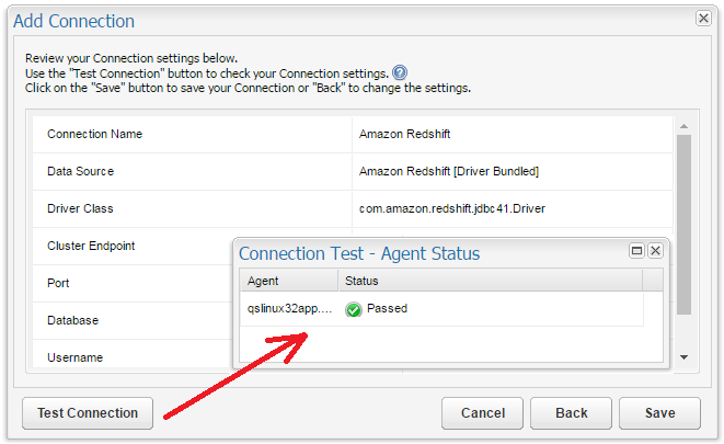 Configuring Connections: Amazon Redshift – Customer Support